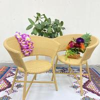 ラタンチェア(籐椅子)シンセティックラタン【typeC】ベージュ