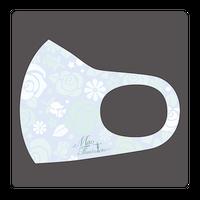 浅田真央サンクスツアー マスク 花柄 ブルー×グリーン
