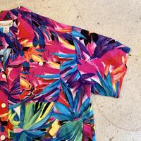 オープンカラー 半袖シャツ