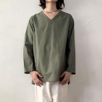 ロシア スリーピングシャツ  Vネック / オリーブグレー