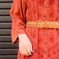 レザー編みベルト