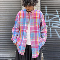 """Ralph Lauren"" マドラスチェックコットンシャツ"
