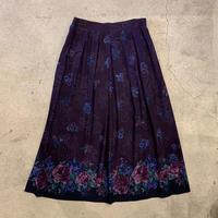 花柄レーヨンスカート