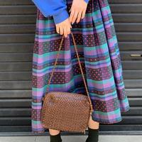 レザー 編み ハンドバッグ