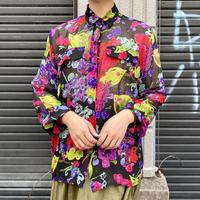 花柄 シースルーシャツ