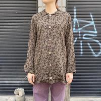 刺繍 レーヨンシャツ