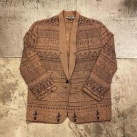 総柄刺繍ジャケット