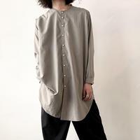 NO CONTROL AIR  ノーカラーロングシャツ / Light Grey / M