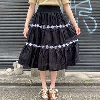 インドコットン ギャザー ティアードスカート