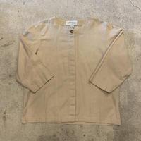 七分袖 フライフロント シャツ