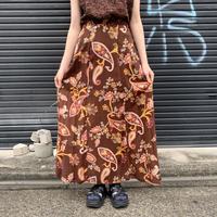 総柄 レーヨン マキシ スカート