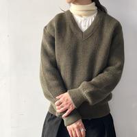 80's フランス軍 Vネックセーター