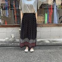 花柄×ペイズリー柄×チェック柄 スカート