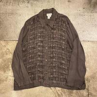 レーヨン編み込みシャツ