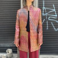 スタンドカラー刺繍ジャケット