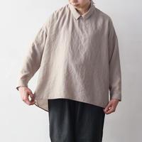 NO CONTROL AIR   シュリンクポリエステル 襟付きプルオーバーシャツ / Light beige / 38