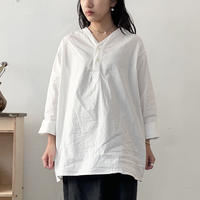 ロシア スリーピングシャツ  ヘンリーネック / ホワイト 50