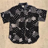 アメリカ製 パッチワーク風プリントシャツ