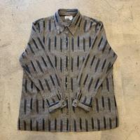 ストライプ織りシャツ