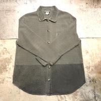 凹凸生地切り替えシャツ
