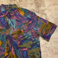 """〜1990's """"Alan Stuart"""" アートプリントレーヨンシャツ"""