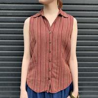リネン×レーヨン タンクトップシャツ