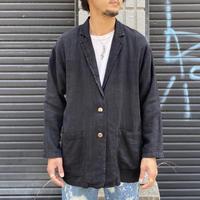 アメリカ製 ブラックリネンテーラードジャケット