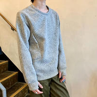 POUTNIK   the urban traveler by Tilak  SAGE wooly sweatshirt  / Light Gray Melange ・Ash Gray
