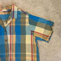 シアサッカー 半袖シャツ