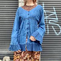 インドレーヨン 刺繍 シャツ