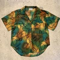 葉柄 オープンカラーシャツ
