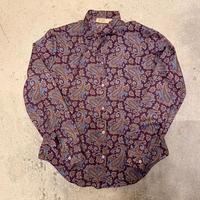 ペイズリー柄 リボンシャツ