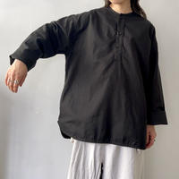 Inswirl HENRY NECK SHIRTS 【 BLACK / BEIGE 】サイズ 2