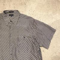 シルク 総柄シャツ
