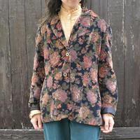70's アメリカ製 花柄ベロアジャケット