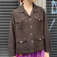 CHICO's リネン×レーヨン オープンカラーシャツ