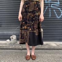 グアテマラ製 切替デザイン スカート