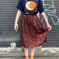 アメリカ製 レーヨン 総柄 スカート