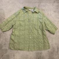 リップル加工 オープンカラーシャツ