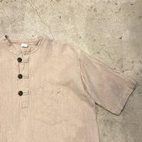 ハーフボタン半袖シャツ