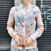 シースルー 花柄シャツ