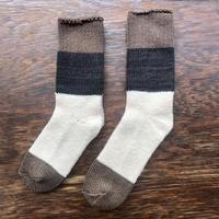 ASEEDONCLÖUD   Seasonal socks   モカ