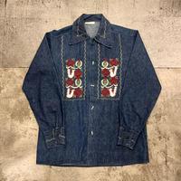 メキシコ刺繍 デニムジャケット