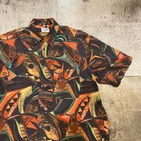 イタリア製コットン総柄半袖シャツ
