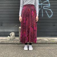 ペイズリー柄×フラワープリントスカート