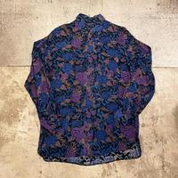 花柄レーヨンシャツ