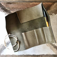 Inswirl  ROLL PEN CASE /OLIVE【original color】