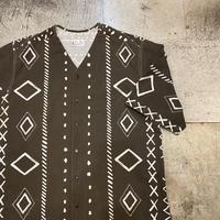 1980's〜 ノーカラー半袖シャツ