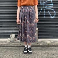 アメリカ製 孔雀柄 ストレートスカート