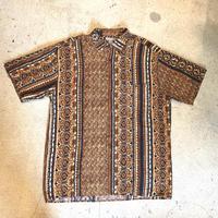 レーヨン 総柄 半袖シャツ
